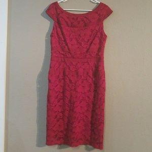 Red Dress Barn Size 10 Midi Dress